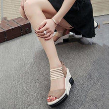 Casual Summer Suede Buckle Wedge Heel Sandals