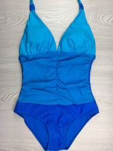 Halter  Color Block Plain One Piece