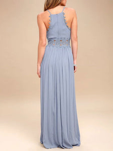 Sexy Deep V Collar Slim Fit Sling Maxi Dress