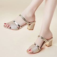 Plain  Chunky  High Heeled  Peep Toe  Casual Date Sandals