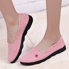 Geometric  Flat  Cotton  Round Toe  Casual Flat & Loafers