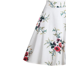 Big Flower Printed Woman Skirt