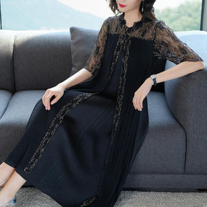 Elegant Shift Maxi Woman Dress
