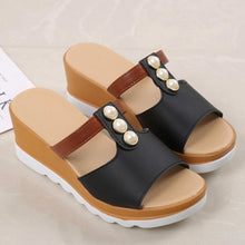 Plain  High Heeled  Peep Toe  Casual Wedges