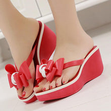 Color Block  High Heeled  Peep Toe  Beach Casual Slippers