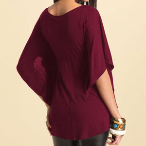 Large Size Plain Pure Woman Tops T-Shirt