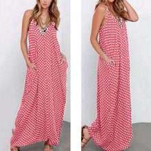 Casual Loose Printing Strap Beach Vacation Dress