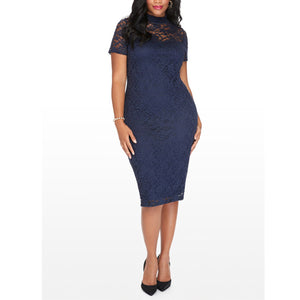 Blue Sexcy Large Size Bodycon Dress For Woman