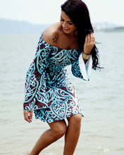 Off Shoulder  Paisley Shift Dresses