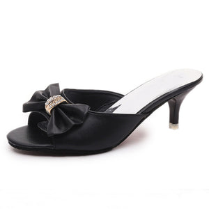 Plain  Stiletto  High Heeled  Peep Toe  Casual Outdoor Sandals