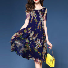 Crew Neck A-Line Short Sleeve Elegant Dress