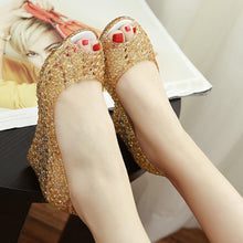 Hollow Out  High Heeled  Peep Toe  Casual Date Peep-Toe Wedges