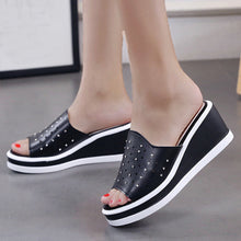 Hollow Out  High Heeled  Peep Toe  Casual Date Platform Sandals