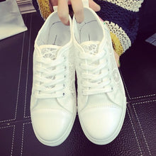 Lace Plain  Flat  Lace  Criss Cross  Round Toe  Casual Sport Sneakers