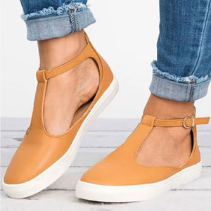 Color Block Plain  Flat  Ankle Strap  Round Toe  Casual Outdoor Sneakers
