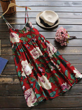 Spaghetti Strap  Floral Printed Shift Dress