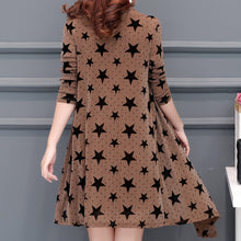 Casual Fashion Lotus Printed Chiffon Two-Piece Shift Dresses