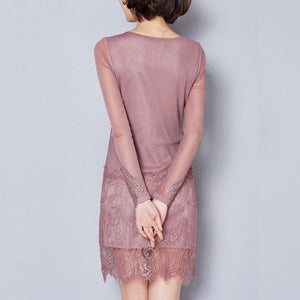 Sexy Lace Long Sleeve Bodycon Dresses