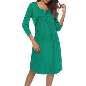 Plain Casual Woman More Colors Shift Dress
