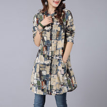 Cotton Casual Daily Woman Print Blouses