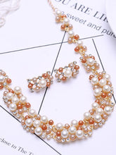 Geometric Double Row Pearl Set Diamond Jewelry