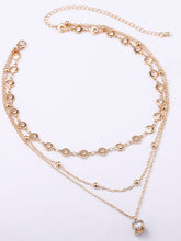 Multilayer Clavicle Crystal Pendant Necklace