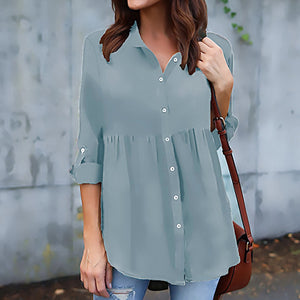 More Colors Woman Long Sleeve Casual Daily Blouses
