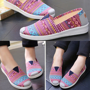 Women Summer Casual Canvas Round Toe Flat & Loafers