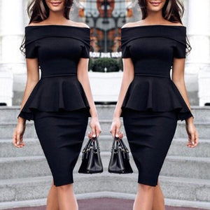 Sexy Short Sleeves Off Shoulder Bodycon Dress