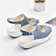 Plain High Heeled Peep Toe Casual Wedges Sandals Plus Size