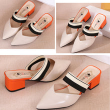 Women Casual Middle Heel Stylish Slipper Pumps