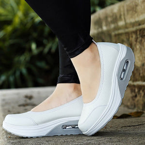 Air Cushion Thick Bottom Increased Sneaker Shallow Mouth Shoes