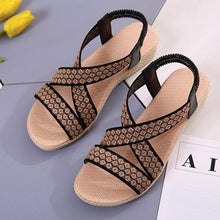Low Heeled  Ankle Strap  Peep Toe  Casual Wedge Sandals