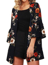 Floral Bell Sleeve  Cardigans