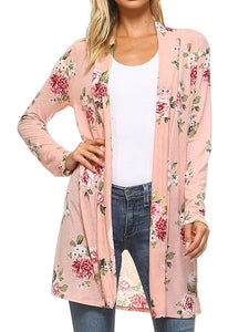Floral Long Sleeve Cardigans