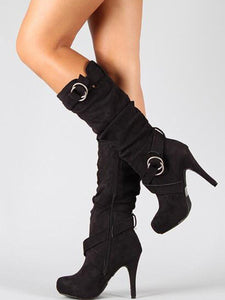 Hooped  Platfrom High Heel Boots