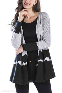 Patchwork  Gradient  Autumn Casual Cardigans