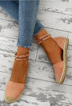 Female Weaving Patchwork Suede Rivet Plus Size Sandals