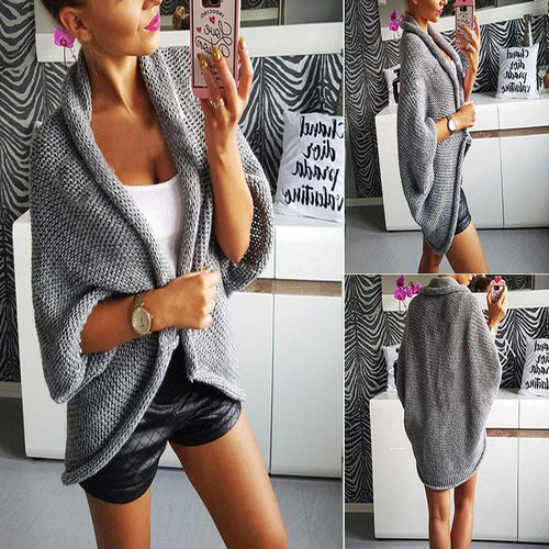 Casual  Knitting Sleeve Thick Loose Cardigan