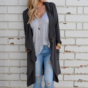 Long Sleeve Irregular Cardigan