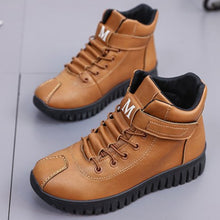 Plain  Flat  Criss Cross  Round Toe  Outdoor Ankle Boots