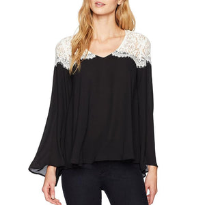 Lace Patchwork Oversized  Blouse