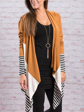 Color Block  Long Sleeve Cardigan