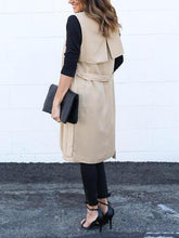 Plain Sleeveless Coats