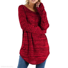 Loose Round Neck Long Sleeve Plain Casual T-Shirts