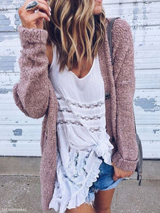 Loose Long Sleeved Cardigan