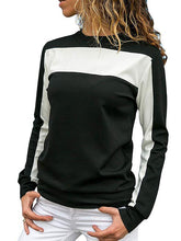 Loose Long Sleeve Round Neck Sports Color Matching Shirt
