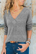 V Neck  Plain T-Shirts