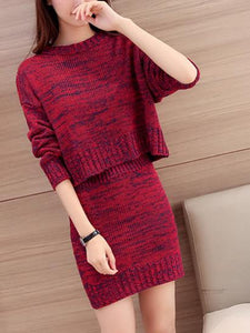 Sweater Long Sleeve Knit Bodycon Dress