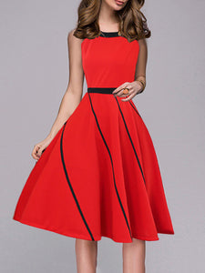 Casual Solid Color Slim Slimming Wild Fashion Dress